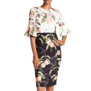 Ted Baker AREEA - Shift dress Peach bell sleeve 0